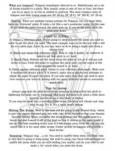 Otto Percussion Studio Timpani Handout (Page 2)